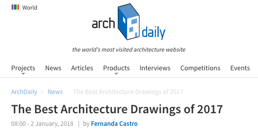 Daipu Architects was selected to ArchDaily: The Best Architecture Drawings of 2017